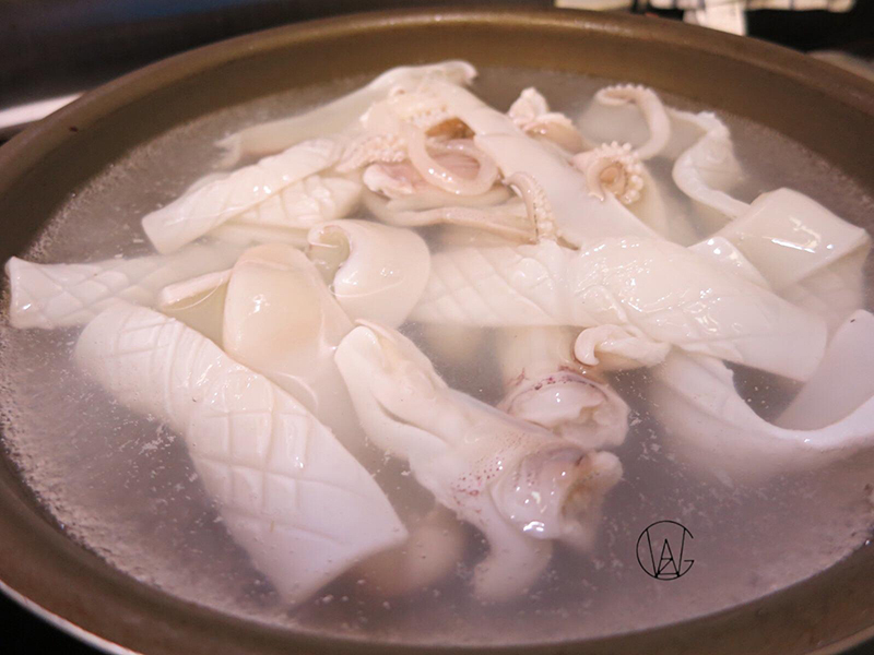 gwzfood,白灼鮮魷,海鮮,王子煮場,王子,速食,5分鐘食譜,tips,