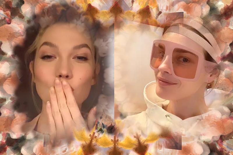 Dior 新出 IG Stories face filter-跟住名模Karlie Kloss 試玩自拍