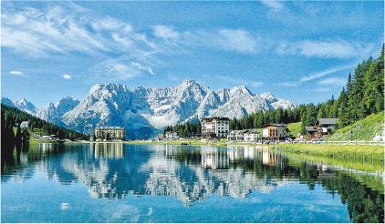 旅遊, 意大利, 阿爾卑斯山, 三尖峰, Zermatt, Chamonix Mont-Blanc, Lake Misurina