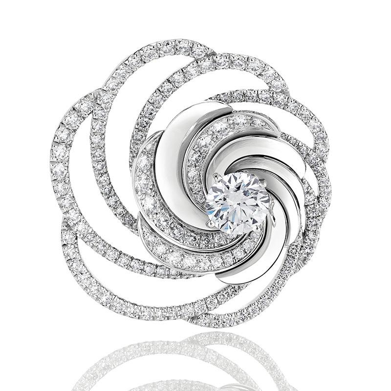 Aria鑽石胸針