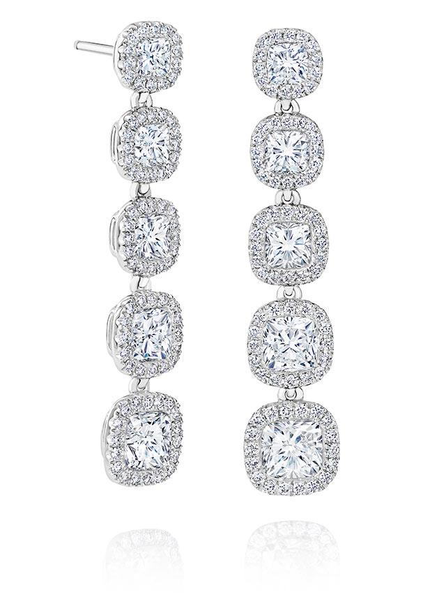 Aura高級珠寶鑽石耳環