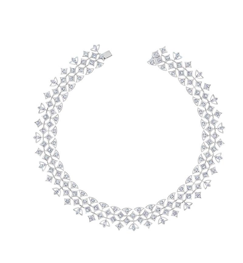 Lotus by De Beers Radiating Lotus 高級珠寶鑽石項鏈